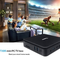 TX85 Мини ПК 1080P HD Windows 10 для Intel Atom X5-Z8350 TV Box 4G 64G память 2 4G + 5 8G двойной Wifi телеприставка для Xiaomi Android