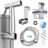 Handheld Wc bidet sprayer set Kit Edelstahl Hand Bidet wasserhahn für Bad hand sprayer dusche kopf selbst reinigung