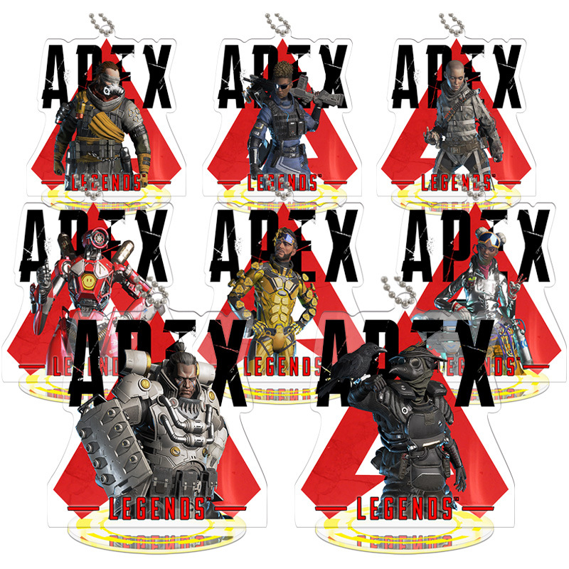 Height 9cm <font><b>Apex</b></font> legends Anime Action Figure <font><b>Toy</b></font> Acrylic Keychain Decorative Ornaments image