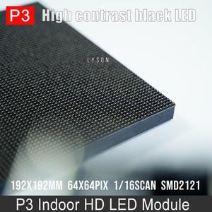 Image 4 - P3 מקורה SMD מלא צבע LED מודול עבור HD וידאו תצוגת מסך 64*32 פיקסלים