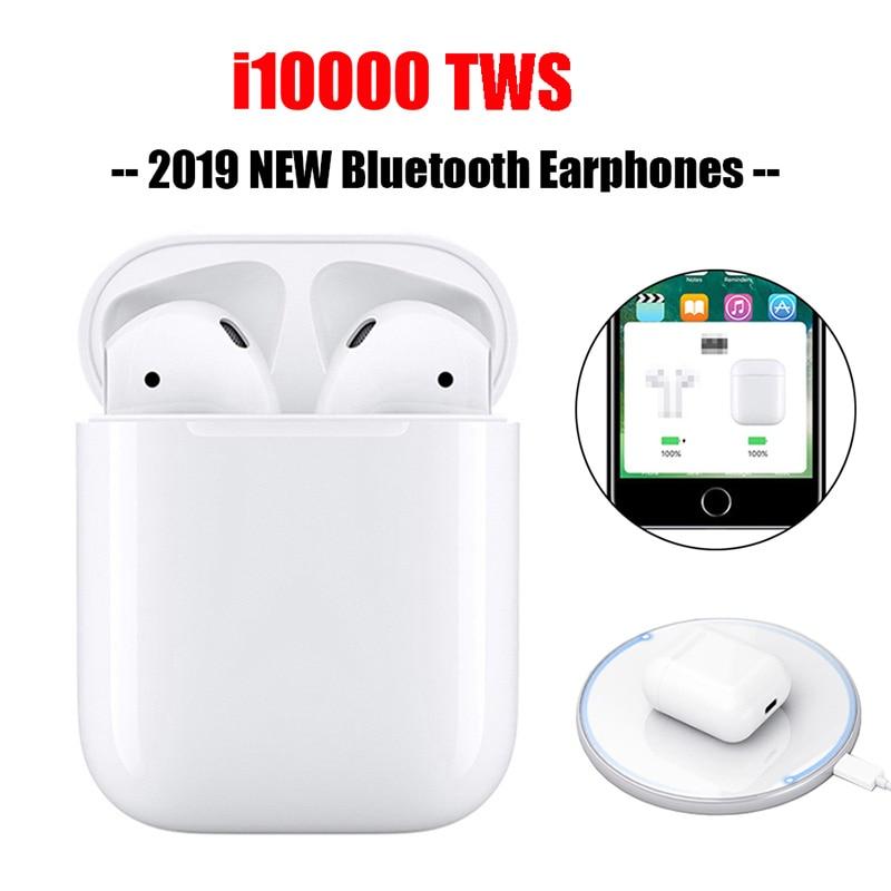 I10000 TWS 1:1 Replica Wireless Bluetooth Earphones Headsets Smart Sports With Mic Wireless Charging Function PK I80 I500 I9999