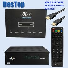 2 قطعة كامل HD استقبال الأقمار الصناعية مع 2x DVB S2 سات موالف المثبتة مع Axas له التوأم لينكس E2 فتح ATV صندوق التلفزيون كما ZGEMMA
