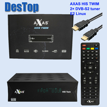 2pcs Full HD Satellite Receiver With 2x DVB S2 SAT Tuner Installed With Axas HIS Twin Linux E2 Open ATV TV Box as ZGEMMA