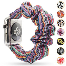Scrunchie Elastic Band for Apple Watch 6 5 4 3 38mm bands 40mm 42mm 44mm sport strap Women  Bracelet for iwatch wrist series 5 4