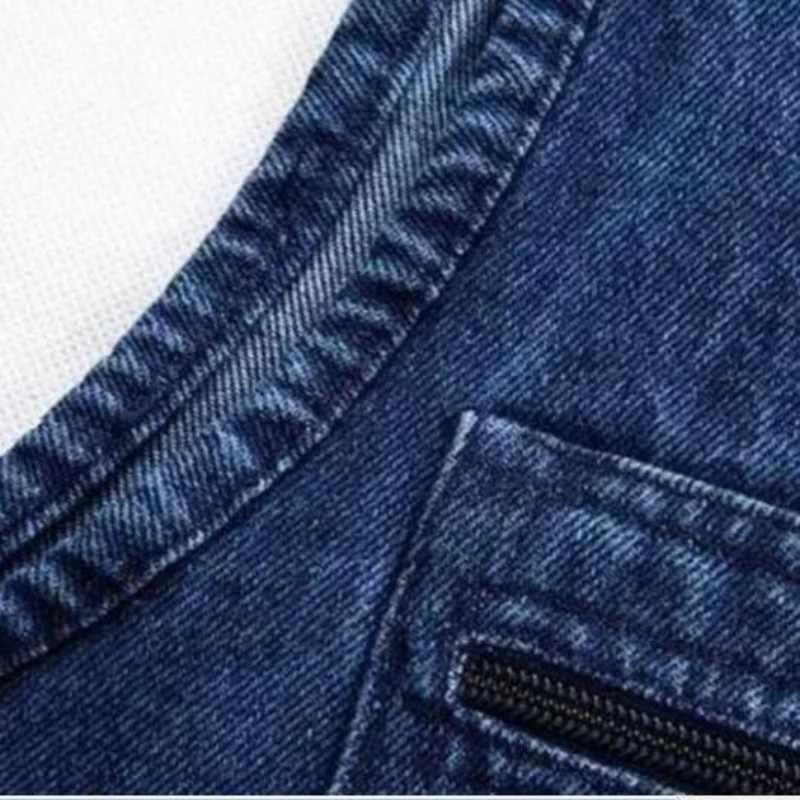 Wiosna mężczyzna 5XL kamizelka dżinsowa mężczyzna kamizelka w dużym rozmiarze dżinsy męskie kilka kieszeni kamizelka dla fotografa męskie kamizelka dżinsowa bezrękawnik Colete