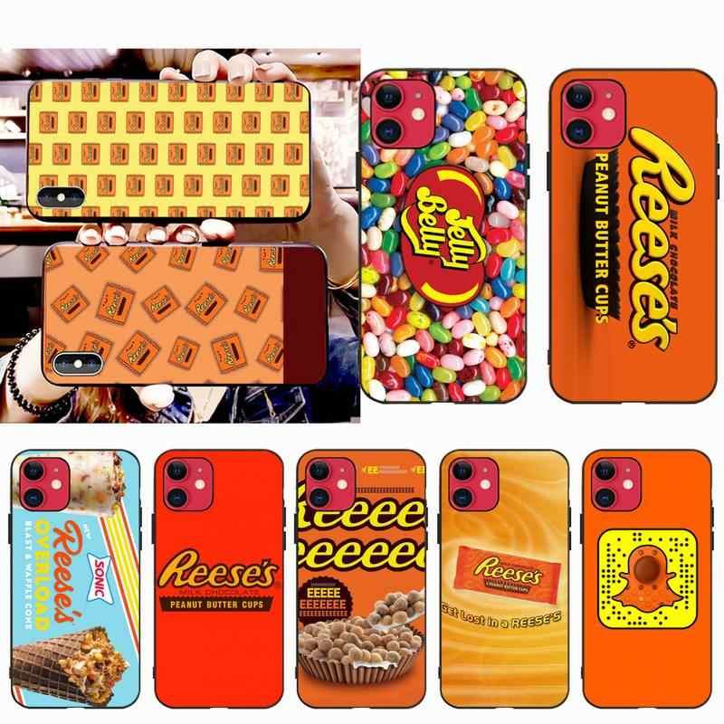 Nbdrucai Candy Reeses DIY Painted Bling Phone Case for iPhone 11 pro XS MAX 8 7 6 6S 플러스 X 5S SE XR 케이스