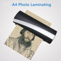 Máquina laminadora de foto A4 para película Plastificadora papel documento térmico caliente y frío dos rodillos rápido|Laminador| |  -