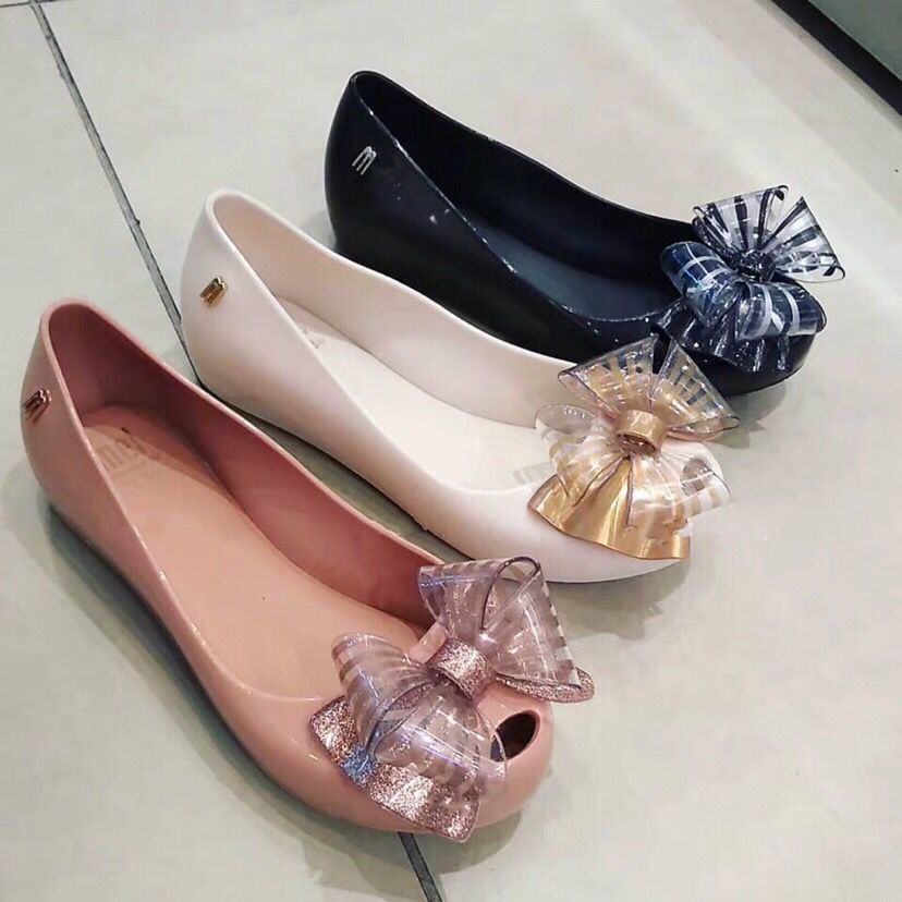 2020 Children's  New Melissa Girls' Sandals Big Bow Princess Jelly Shoes Kids Students Beach Baby Sandals Candy Shoes MN028