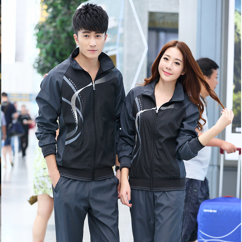 Spring And Autumn New Style Sports Set Couples Sports Clothing Men's Women's Long-Sleeve Jogging Suits Casual Training Set Schoo