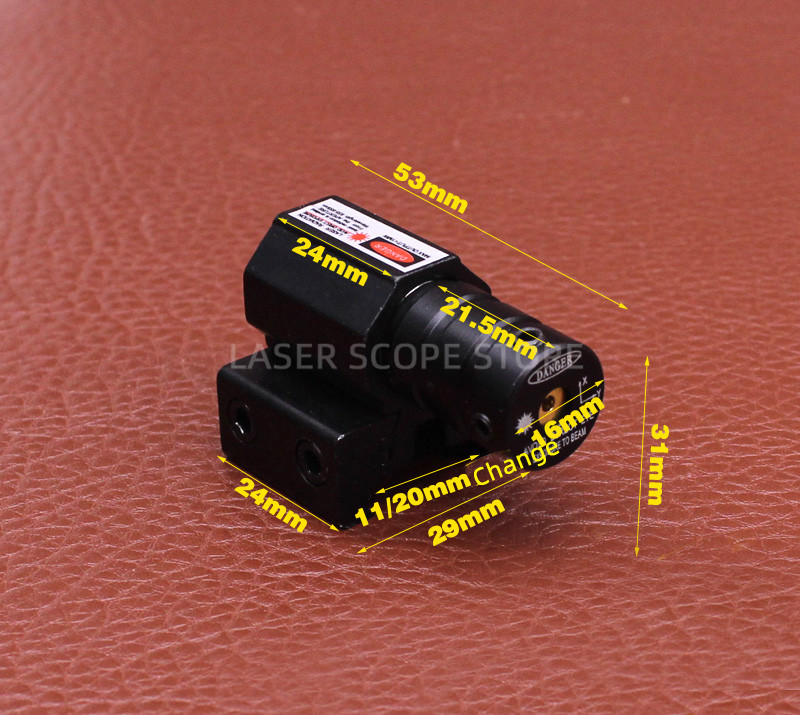 Tactical AT Red Laser Sight for Glock 19 Accessories  Glock Laser Scope  Powerful Laser Pointer 11/20mm Can Change-2