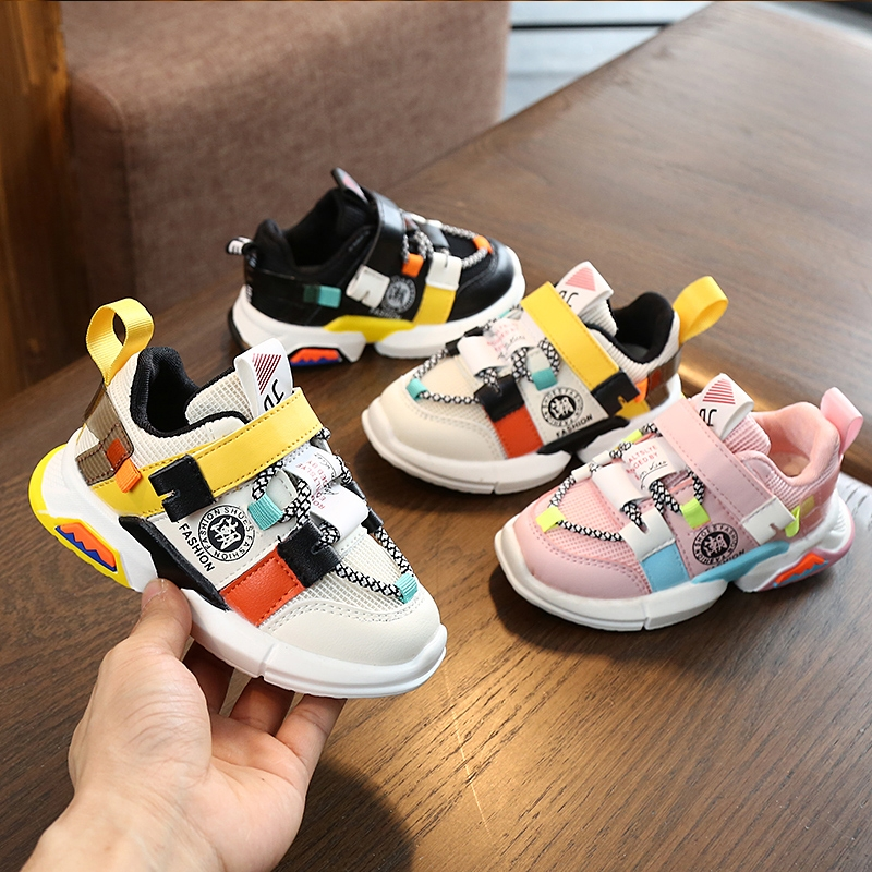 2019 New Sport Children Shoes Kids Boys Sneakers Spring Autumn Net Mesh Breathable Casual Girls Shoes Running Shoe For Kids