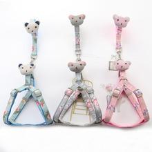 Leash-Set Pet-Harnesses Dog-Supplies Small Walking Adjustable Print for Medium Dogs
