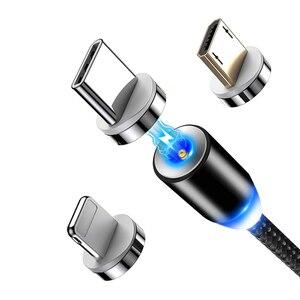 Image 2 - Chargeur magnétique Micro USB câble prise rond magnétique câble prise charge rapide fil cordon aimant USB Type C câble prise gratuite