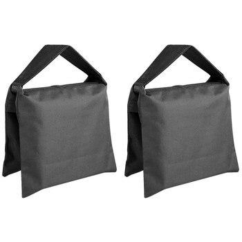 Bolso de arena fotográfico para estudio de vídeo, bolsa de arena resistente para soportes de luz, soporte de pluma, trípode-Juego de 2 paquetes