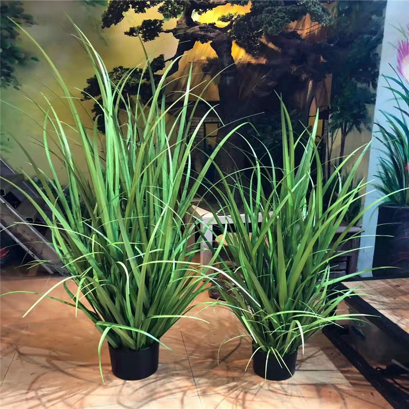 2019 Artificial Leave Simulation Grass Used For Home, Shopping Mall, Restaurant Decoration Engineering Simulation Plants