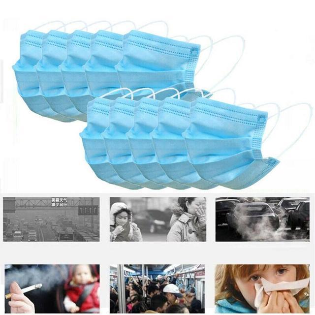 10/20/30/40/50/100pcs mouth mask Men Women Cotton Anti Dust Mask Mouth Mask Windproof Mouth-muffle Bacteria Proof Flu Face Masks 5