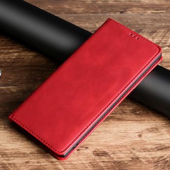 Futerał z magnetyczną klapką do LG K8 K10 Pro K20 K30 2016 2017 X4 X2 2019 skóra pokrywa dla LG K61 K40 K40S K50 K50S K12 Plus Prime Max tanie i dobre opinie NoEnName_Null CN (pochodzenie) Etui z klapką Brief Flip Case Matowy Zwykły Z Kieszeni Karty Podpórka Odporna na brud