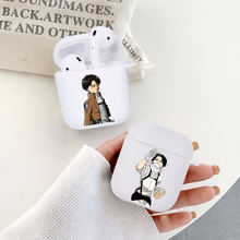 Японского аниме атака на Титанов Леви мягкий белый airpod чехол