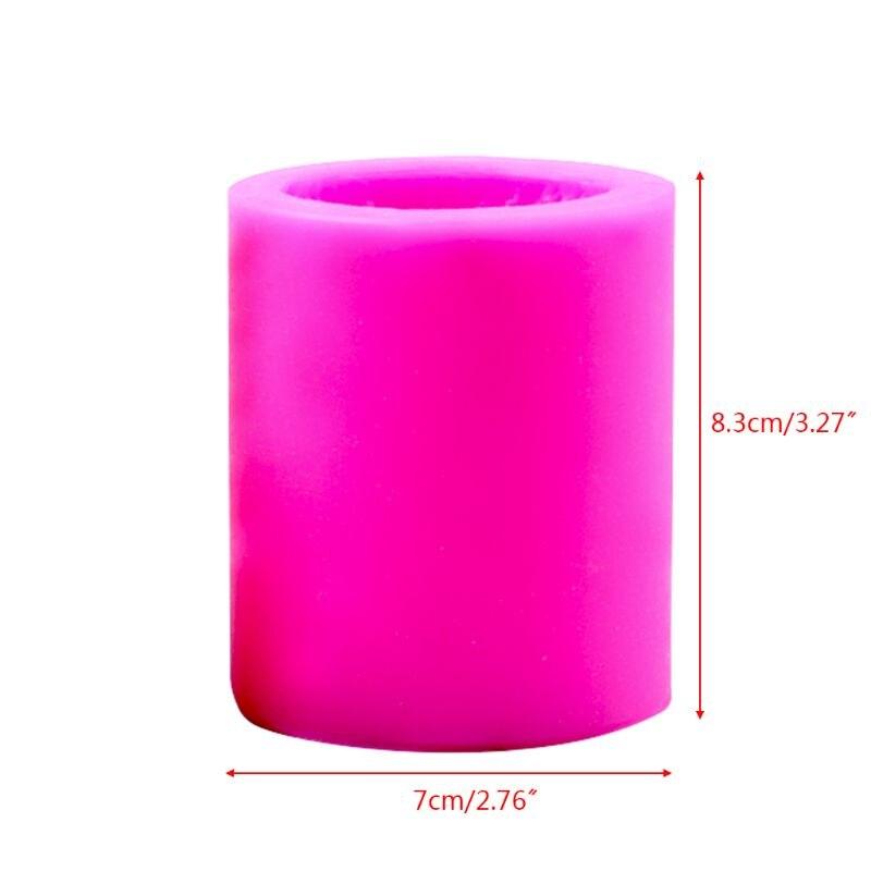 3D колонна силиконовая свеча форма для мыла Сделай Сам глина для украшения торта шоколада