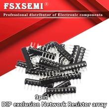 10pcs 9pin DIP Exclusão Resistor Rede 100 220 330 470 680 K 1.5k 2 1K 2.2K 3.3K 4.7K 5.1K 5.6K K 100K ohm 102 202 472J 10