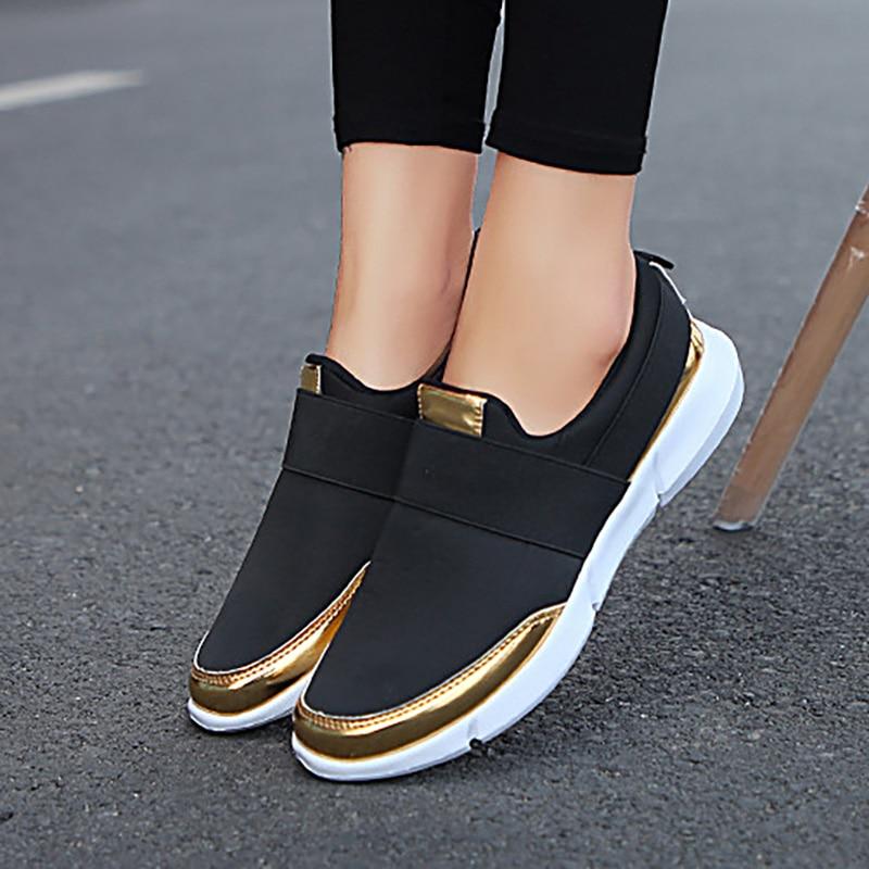 Women Shoes Breathable Sneakers Women Vulcanize Shoes Flats Tenis Feminino Lightweight Casual Shoes Women's Sneakers Plus Size