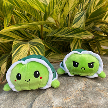 Милый мягкий моделирование флип черепаха плюш дети рождество подарок двусторонний флип плюш игрушка дети день рождения подарок быстрая доставка