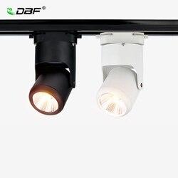 [DBF] możliwość przyciemniania 7W 10W 15W 20W oświetlenie szynowe LED aluminium kąt regulowany szyna sufitowa oświetlenie drogi szyna reflektory AC 110V/220V