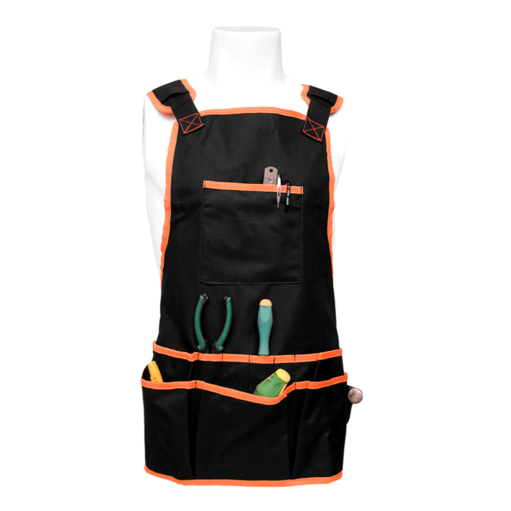 Carpenter Apron Electrician Tool Belt Bag Pouch Mechanic Vest Waterproof Oxford Cloth 16 Pocket Fits All For Clother Protection