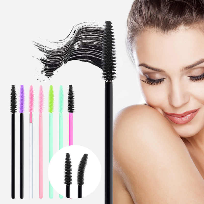 25Pcs Disposable Silicone Gel Eyelash  Mascara Lip Brush Comb Wands Eye Lashes Extension Tool Professional Beauty Makeup Tool