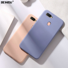 Liquid State case for Oppo A7 TPU silicone soft AX7 Matte Color Back cover Case capa