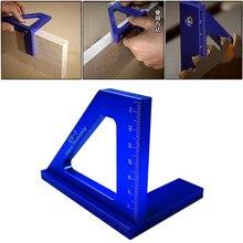Do obróbki drewna kwadratowy kątomierz mityczny trójkąt linijka wysoka precyzja stopu aluminium układ pomiaru narzędzia do obróbki drewna narzędzia DIY