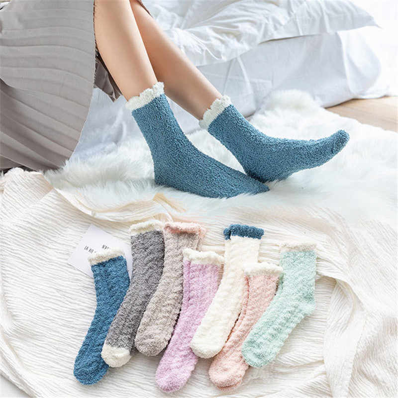 Women Socks Harajuku Christmas Cute Fall Winter Kawaii Egirl Warm Sock Cozy Thick Art 2019 Fashion Streetwear Trending Products
