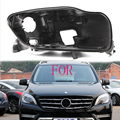 W166 оболочка Черная фара оттенок черная фара база для Mercedes-Benz ML300 ML350 ML400 W166 фара черный корпус shell2012