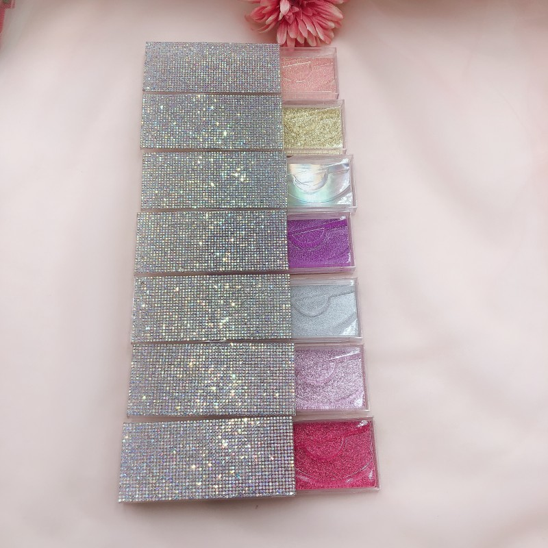 3d nerz wimpern diamant boxen faux cils magnetische fall wimpern leere Strass verpackung box