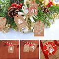 100 pcs feliz natal presente kraft etiquetas de papel papai noel tag de papel floco de neve árvore de natal decoração de festa diy etiqueta de presente tags