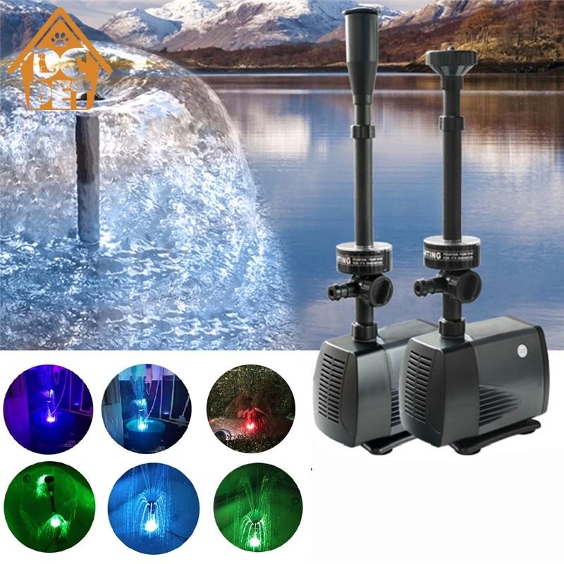 Bomba de agua para acuario de estanque de peces 40/50/75/85W con bomba de fuente sumergible LED para jardín bomba sumergible LED de decoración-in Bombas de agua from Hogar y Mascotas    1