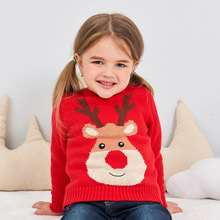 High Quality Autumn Winter Red Christmas Sweater Toddler Baby Boys Girls Sweaters Long Sleeve 100% Cotton Best Gift