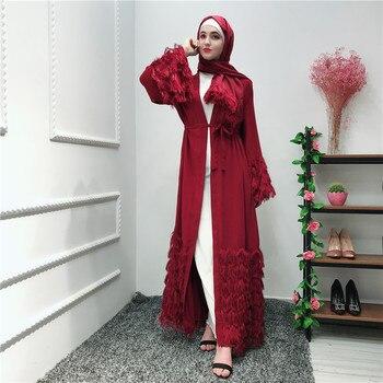Tassel Abaya Kimono Robe Dubai Cardigan Muslim Hijab Dress Kaftan Abayas For Women Jilbab Caftan Islamic Clothing Ramadan Elbise