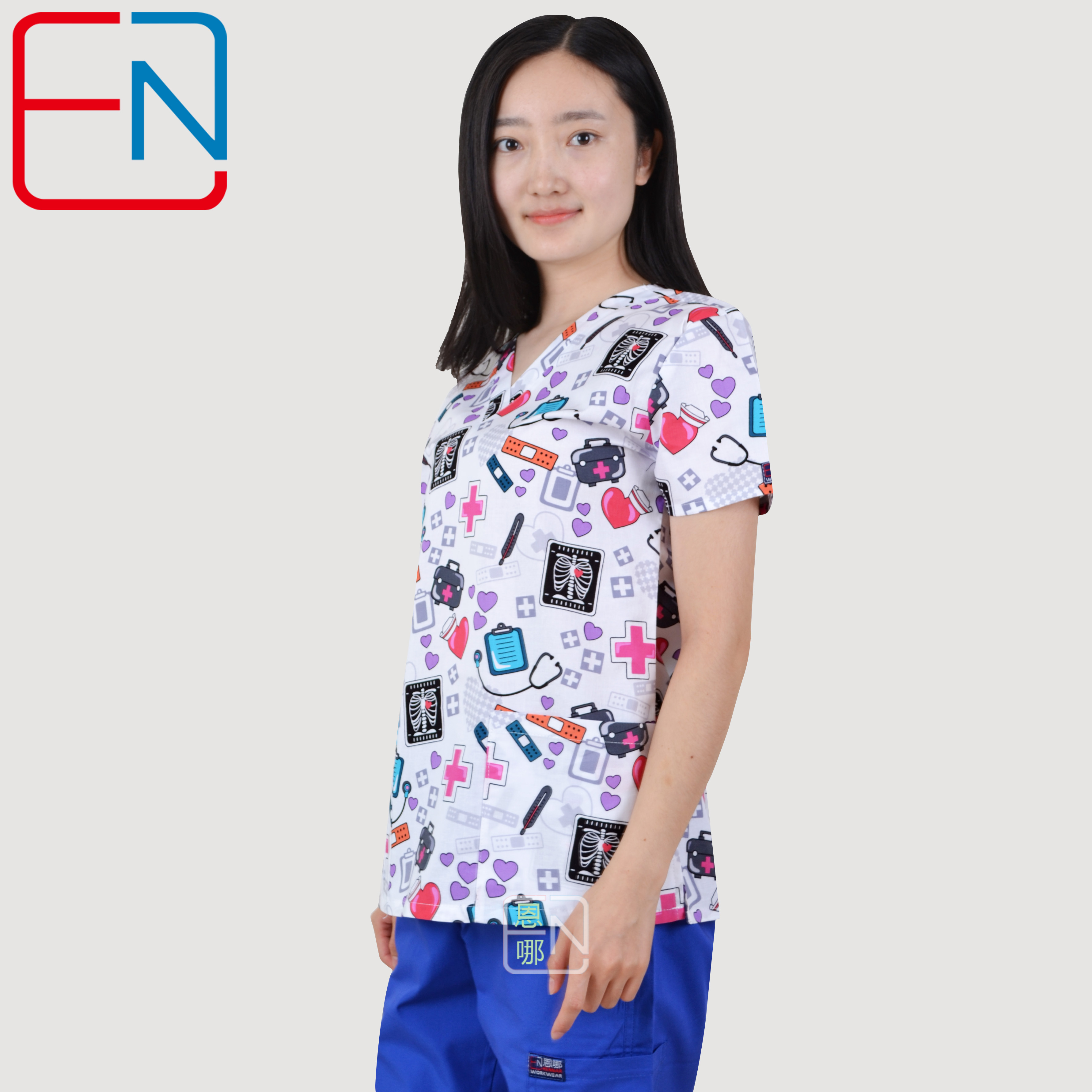 Hennar  Medical Scrubs  Nursing Scrubs  Women Scrubs  Nurse Medical  Uniformes Medicos Para Mujer  Scrub Tops