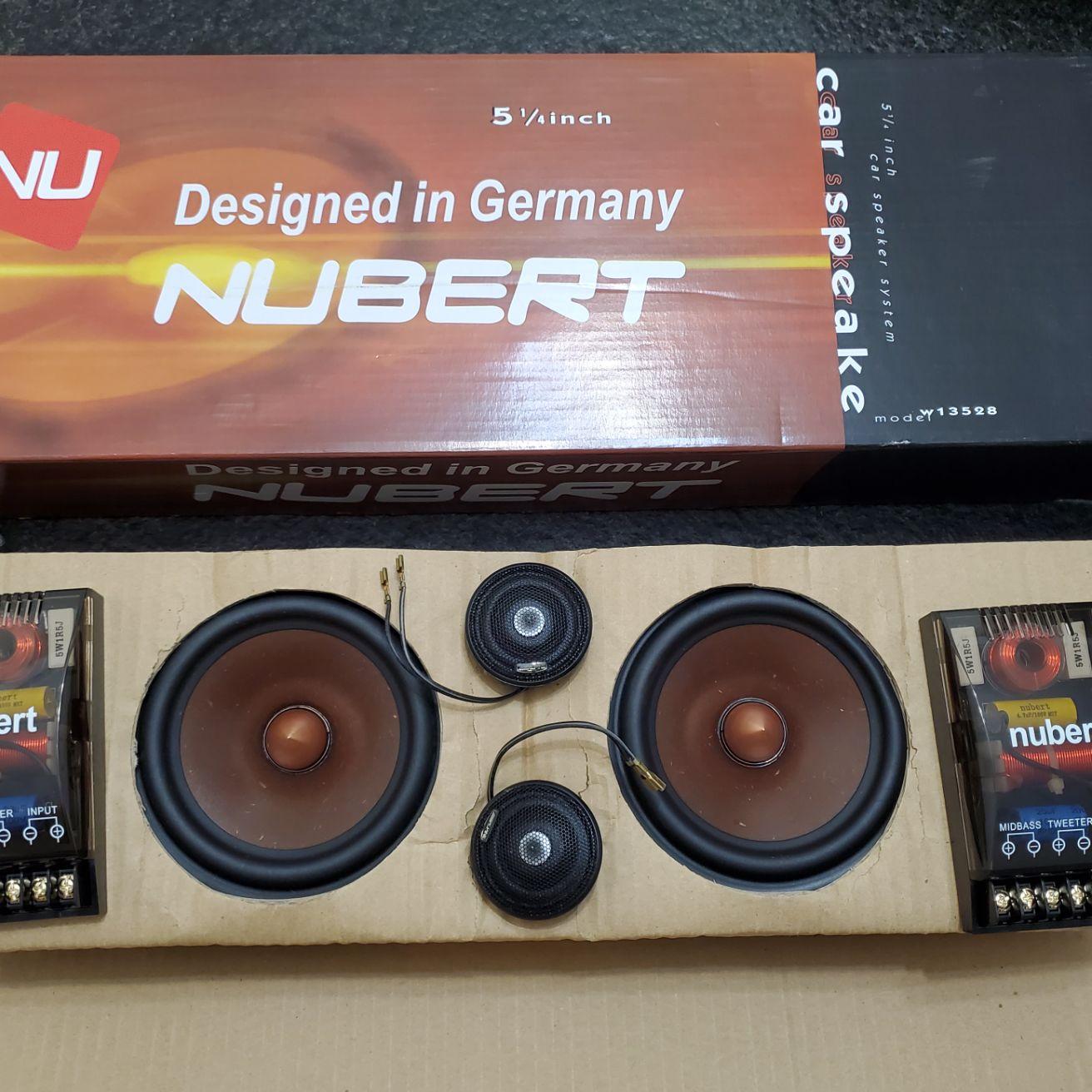 Melo david audio alpine car speaker kit .. alpine tweeter + grass mix paper cone woofer + crossover
