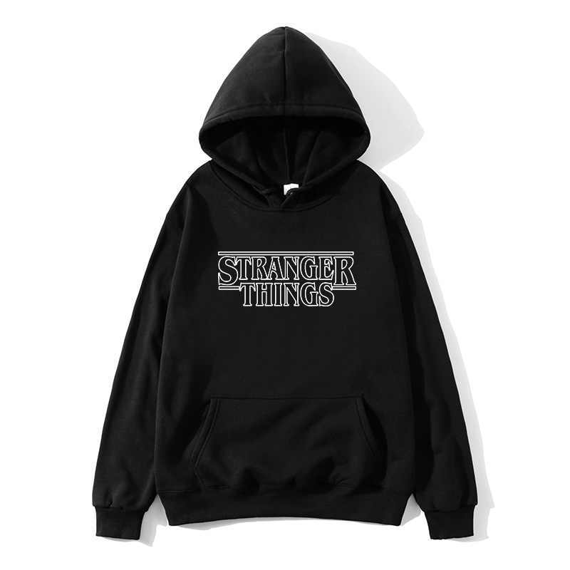 2019 Trendy Faces 낯선 것들 Hooded Mens Hoodies and Sweatshirts 힙합으로 가을을 위해 특대 Winter Hoodies Men Brand