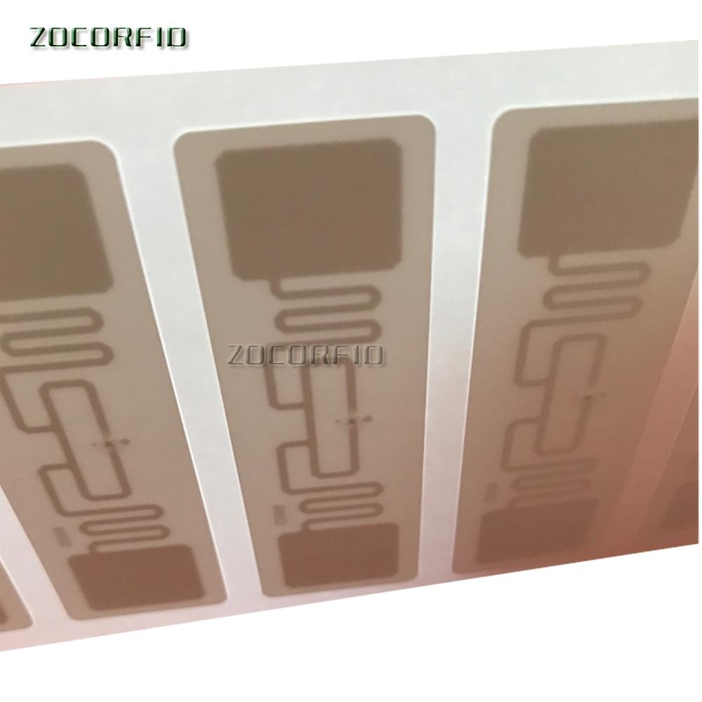 Купить с кэшбэком 500pcs/roll RFID tag UHF sticker Alien 9662 EPC 6C PP synthetic waterproof label 868-915mhz adhesive passive RFID lable