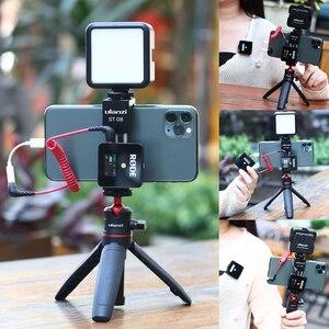 Image 1 - Ulanzi Soporte de Metal para teléfono móvil, Clip de soporte para teléfono móvil con zapata fría para micrófono Go inalámbrico Rode para iPhone 11 Pro Max Samsung Huawei