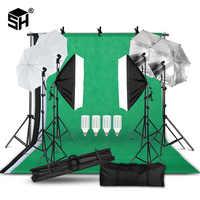 2M x 3M Hintergrund Unterstützung System Softbox Regenschirm Kit für Foto Studio Produkt, porträt und Video Schießen Fotografie Lichter