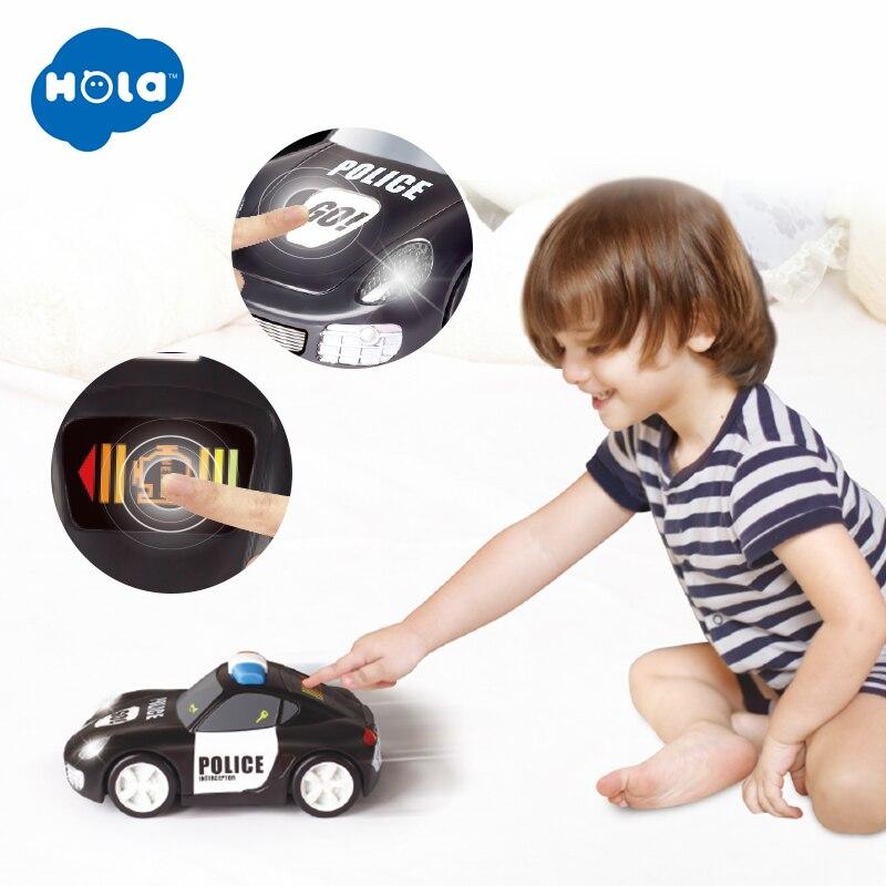 HOLA TOYS 6106A bébé jouets voiture modèle de Police rapide avec fonction Touchable retirer les jouets de voitures