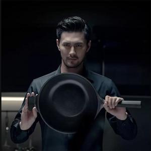 Image 3 - Huohou NonStick Super Platinum Frying Pan Wok Stockpot Milk pan durable Easy to clean High temperature reminder Kitchen Cookware