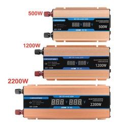 Omvormer 500/1200/2200W DC 12 V/AC 220V Transformator Zuivere Sinus omvormer Slimme Dubbele lcd-scherm Auto Power