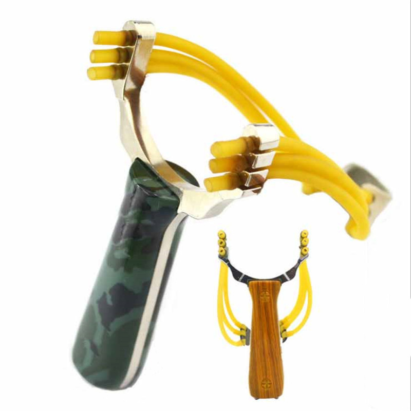 Professional Slingshot Aluminium Alloy Slingshot Catapult Camouflage Bow Outdoor Slingshot Hunting Bow Outdoor Game Playing Tool