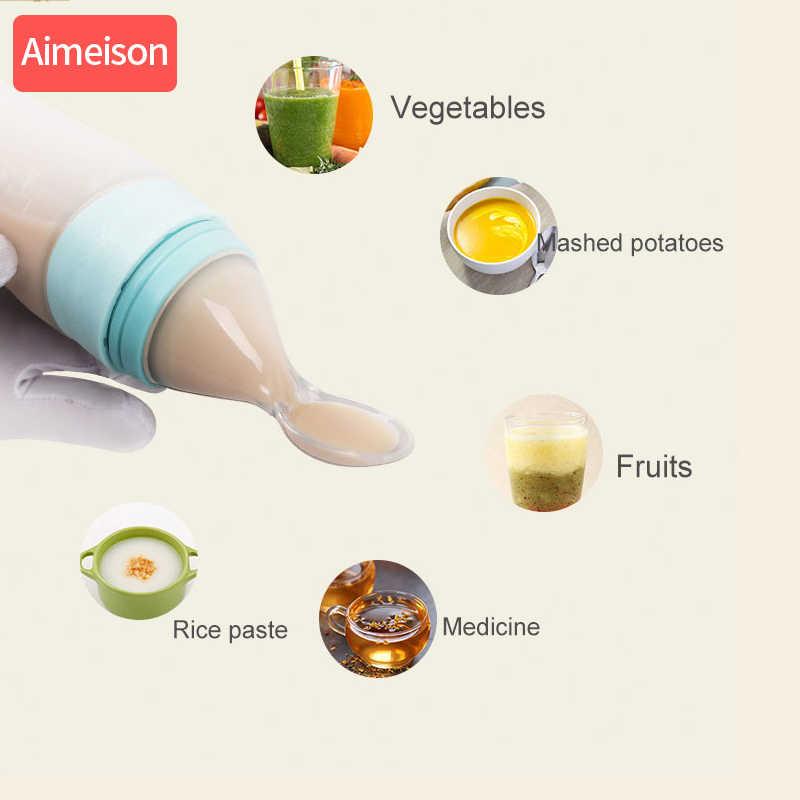 Aimeison ช้อนซิลิโคนเด็กให้อาหารเด็กทารกซิลิโคนช้อน Feeder อาหารข้าวธัญพืชขวดช้อนสำหรับทารก