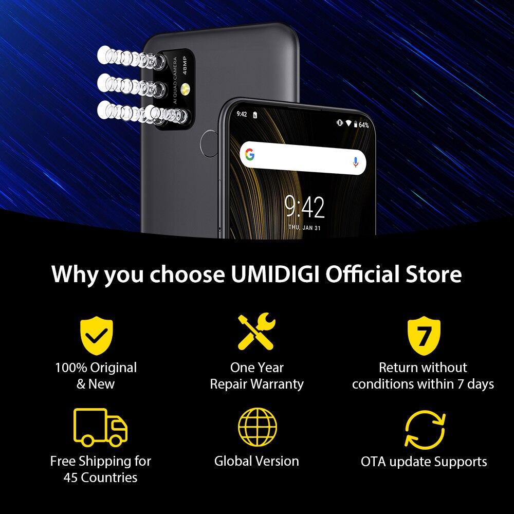 "UMIDIGI power 3 Android 10 48MP Quad AI камера 6150 мАч 6,5"" FHD+ 4 Гб 64 Гб Helio P60 глобальная версия смартфон NFC предпродажа"